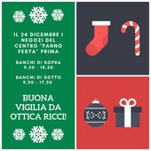 """Il 24 Dicembre i negozi del centro """"fanno festa"""" prima 😄 Saremo aperti: in Banchi di Sopra dalle 9,30 alle 18,30 in Banchi di Sotto dalle 9,30 alle 17,30 (Massetana Zeiss Store orario regolare 9,30-13/15,30-19,30) #otticaricci #occhialidasole #occhialidavista #eyewear #guccieyewear #moscot #kuboraum #chaneleyewear #zeissstore #luxuryglasses #negoziostoricodeccellenza"""
